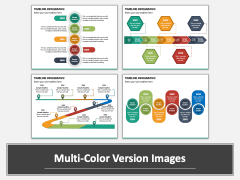 Timeline Infographic PPT Multicolor Combined