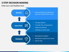 3 Step Decision Making PPT Slide 2