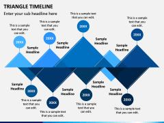 Triangle Timeline PPT Slide 1