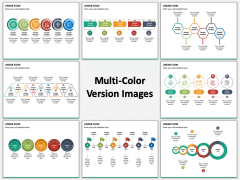 Linear Flow Infographics Multicolor Combined