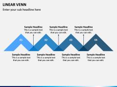 Linear Venn Diagram PPT Slide 5