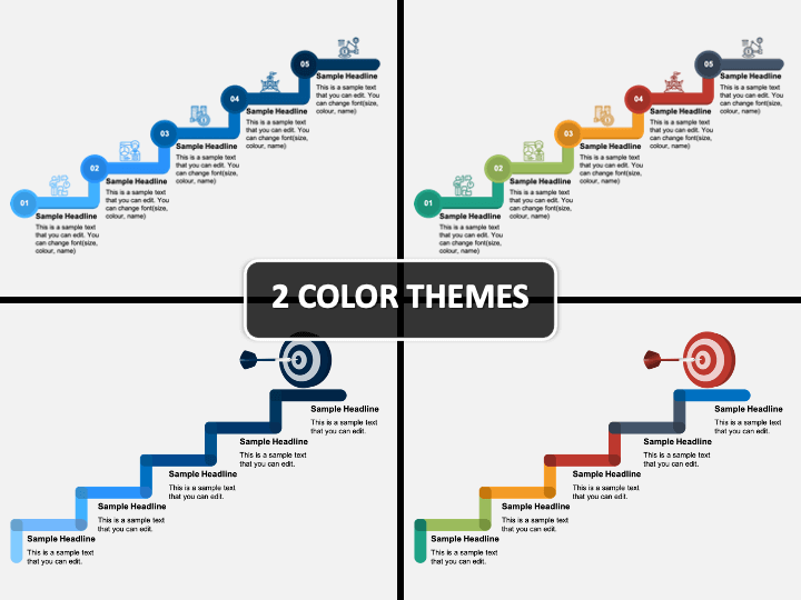 Stairs Timeline PPT Cover Slide