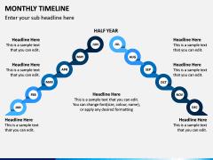 Monthly Timeline PPT Slide 6