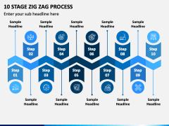 10 Stage Zig Zag Process PPT Slide 1