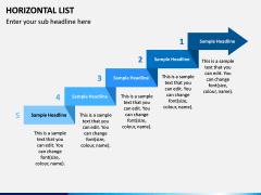 Horizontal List Infographics PPT Slide 2