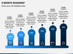 6 Month Roadmap PPT Slide 1