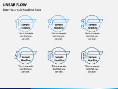 Linear Flow Infographics PPT Slide 9