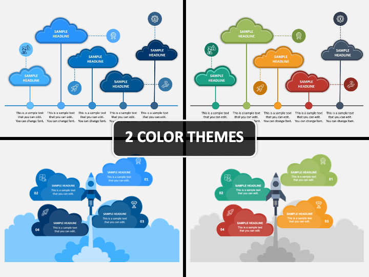 Cloud Infographics PPT Cover Slide