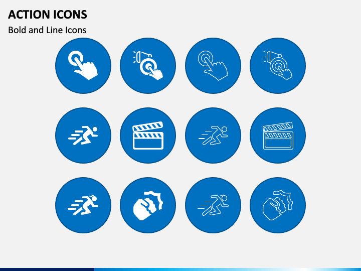 Action Icons PPT Slide 1