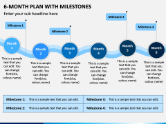 6 Month Plan With Milestones PPT Slide 8