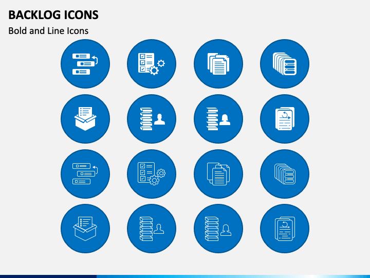 Backlog Icons PPT Slide 1