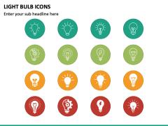 Light Bulb Icons PPT Slide 2