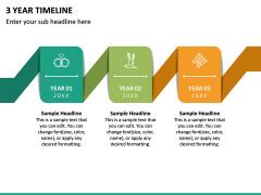 3 Year Timeline PPT Slide 3