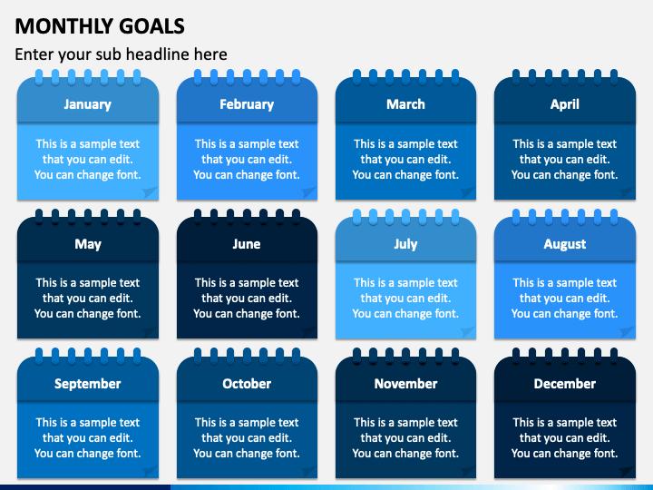 Monthly Goals PPT Slide 1