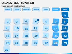 Calendar 2020 PPT Slide 11