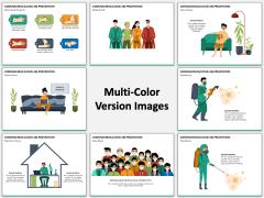 Coronavirus (COVID-19) Prevention Multicolor Combined