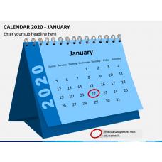 Desk Calendar 2020 PPT Slide 1