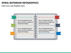 Spiral Notebook Infographics PPT Slide 2