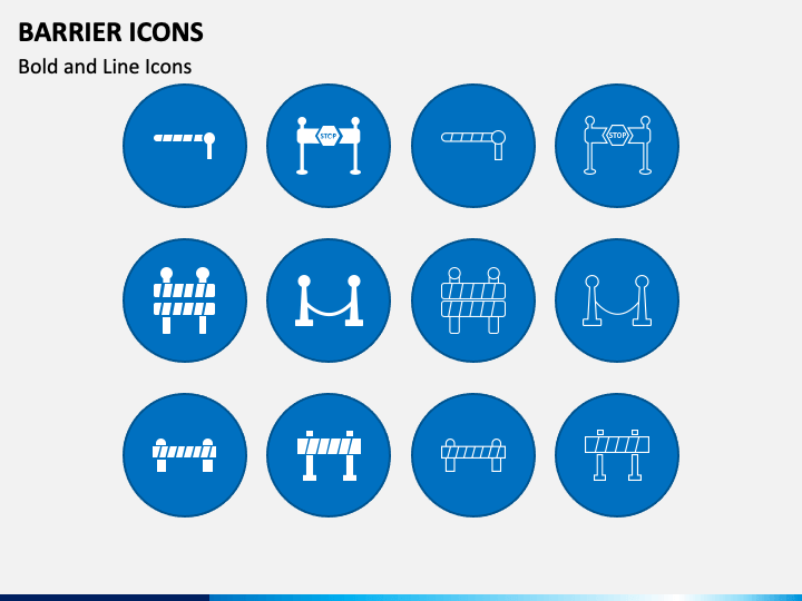 Barrier Icons PPT Slide 1