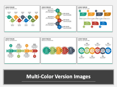 Linear Timeline PPT Multicolor Combined