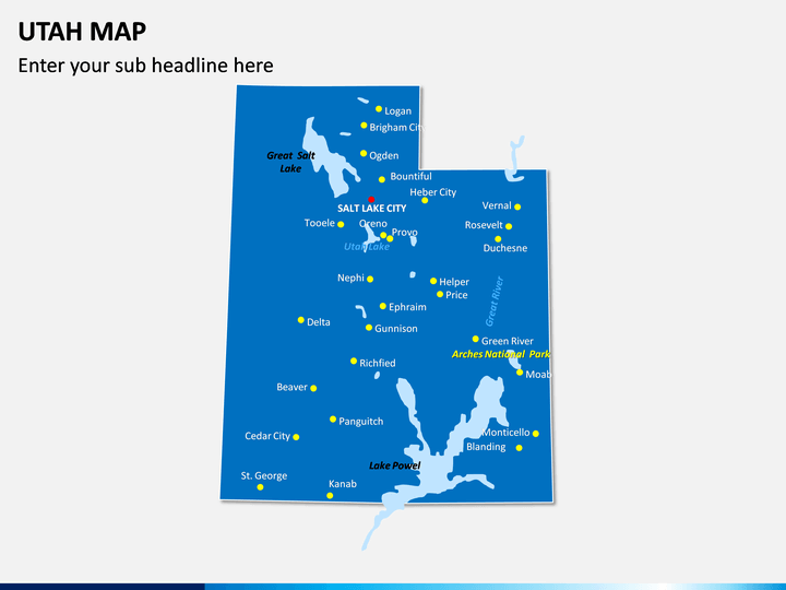 Utah Map PPT Slide 1