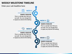 Weekly Milestone Timeline PPT Slide 4