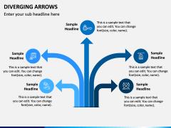 Diverging Arrows PPT Slide 2