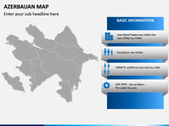 Azerbaijan Map PPT Slide 3