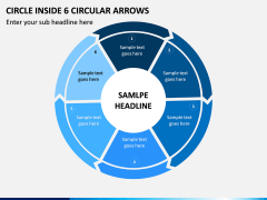Circle Inside 6 Circular Arrows PPT Slide 1