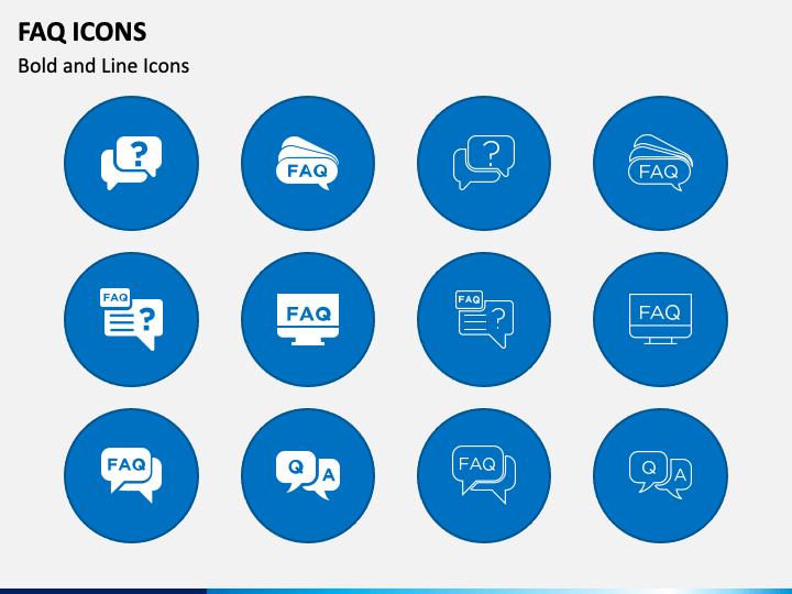 Faq Icons PPT Slide 1