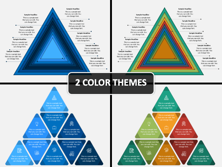 Stack Triangle PPT Cover Slide