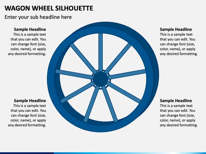 Wagon Wheel Silhouette PPT Slide 1