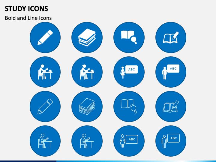 Study Icons PPT Slide 1