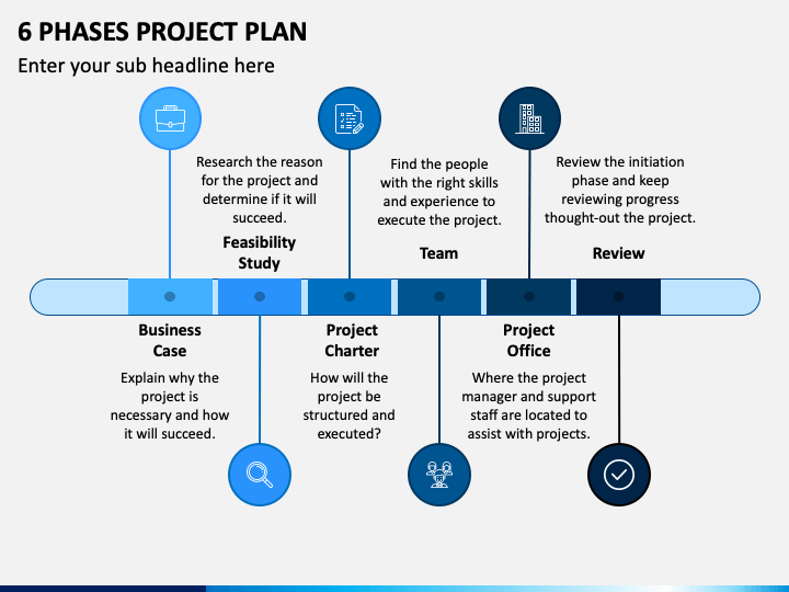 6 Phases Project Plan PPT Slide 1
