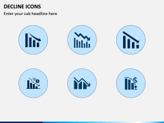 Decline Icons PPT Slide 1