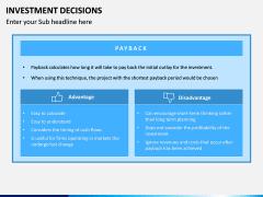 Investment Decisions PPT Slide 8