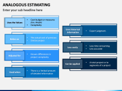 Analogous Estimating PPT Slide 3