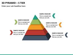 3d Pyramid – 5 Tier PPT Slide 2