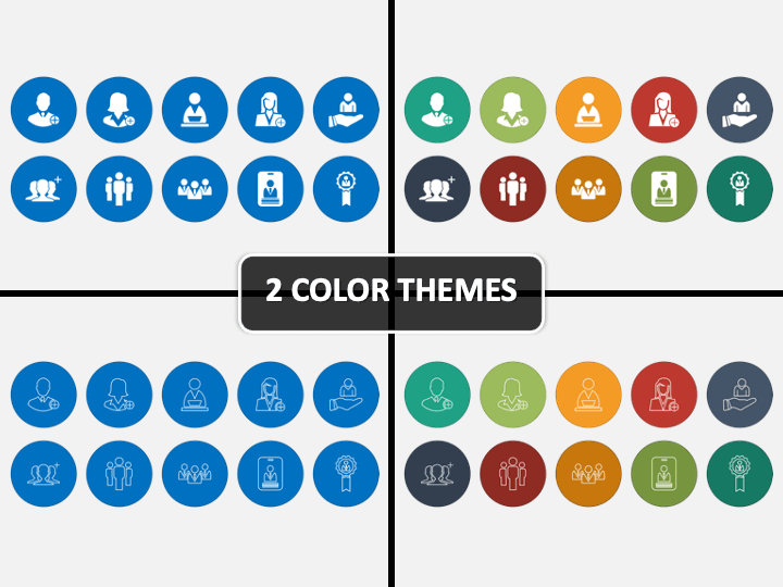 New Hire Icons PPT Cover Slide