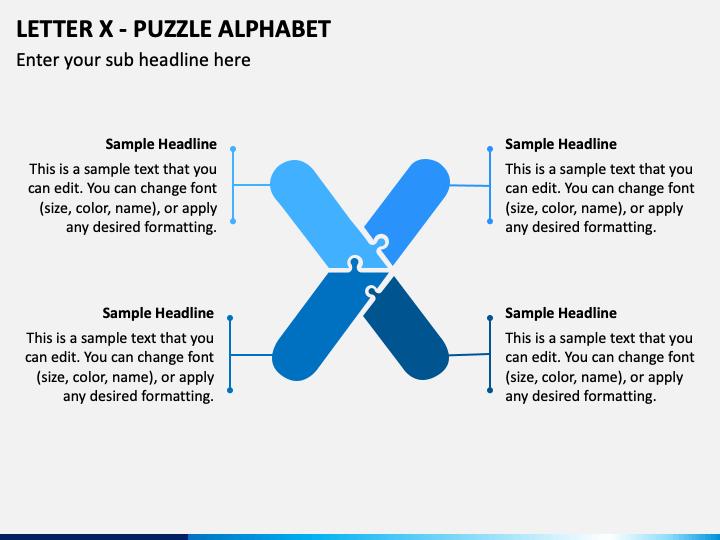 Letter X - Puzzle Alphabet PPT Slide 1