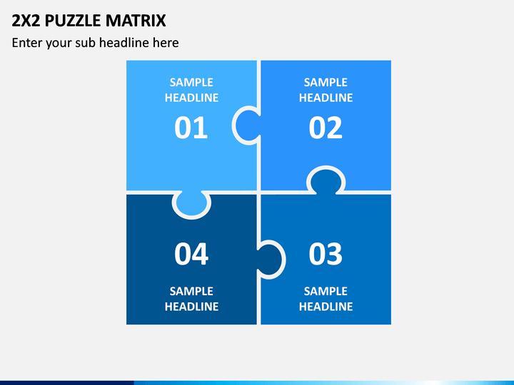 2x2 Puzzle Matrix PPT Slide 1