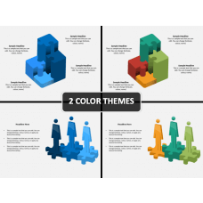 3D Puzzle Shapes PPT Cover Slide