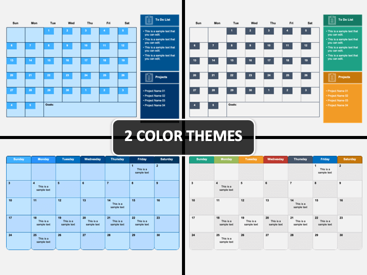 Project Monthly Planner PPT Cover Slide