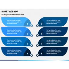 8 Part Agenda PPT Slide 1