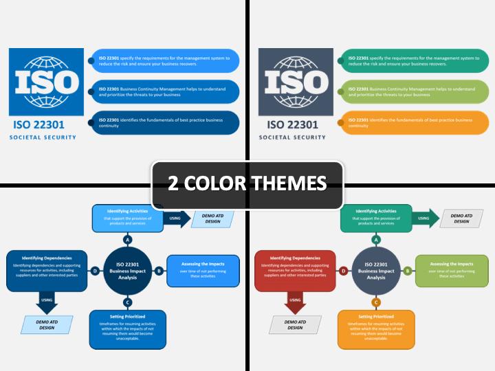 ISO 22301 PPT Cover Slide