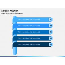 5 Point Agenda PPT Slide 1
