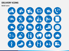 Delivery Icons PPT Slide 1