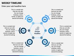 Weekly Timeline PPT Slide 6
