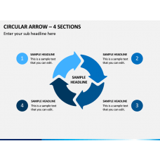 Circular Arrow – 4 Sections PPT Slide 1