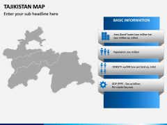 Tajikistan Map PPT Slide 3